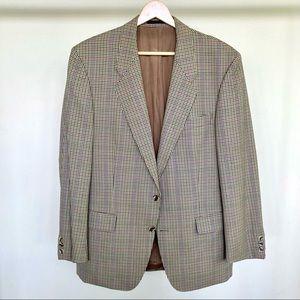 Ted Lapidus Paris 100% wool plaid blazer. 🤎